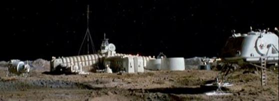 Russian mining facility on the Moon